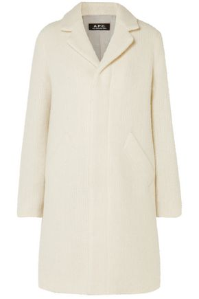 아페쎄 A.P.C. Wool and mohair-blend coat,Ivory