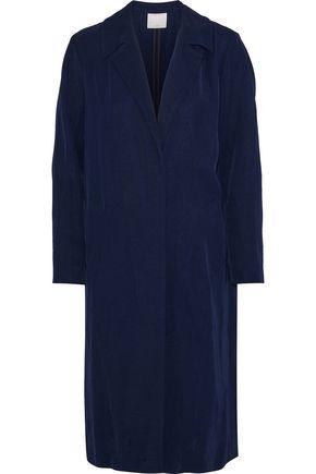 산드로 Sandro Robertine gabardine coat,Navy
