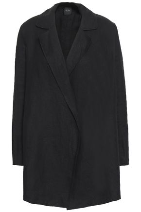 띠어리 Theory Clairene linen and cotton-blend jacket,Black