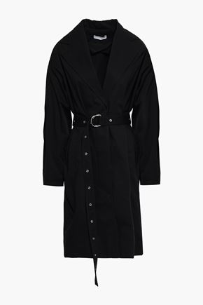 이로 IRO Mamos cotton-gabardine trench coat,Black