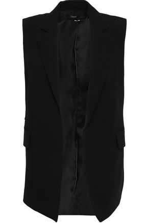 띠어리 Theory Crepe vest,Black