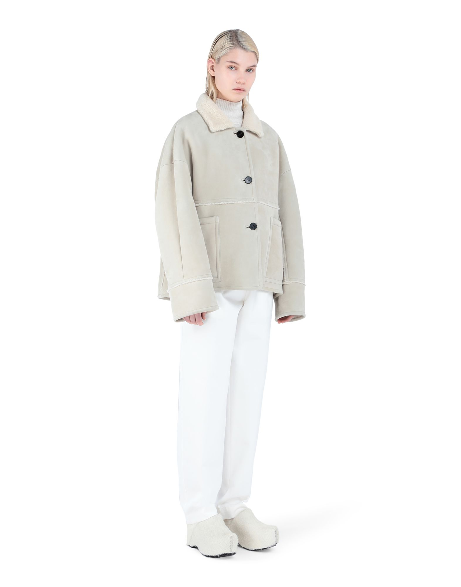 Outerwear in leather - JIL SANDER Online Store