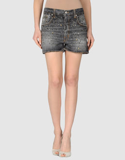 (+) PEOPLE DENIM Denim shorts WOMEN on YOOX.COM
