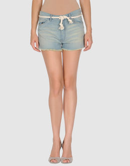 ..,MERCI DENIM Denim shorts WOMEN on YOOX.COM