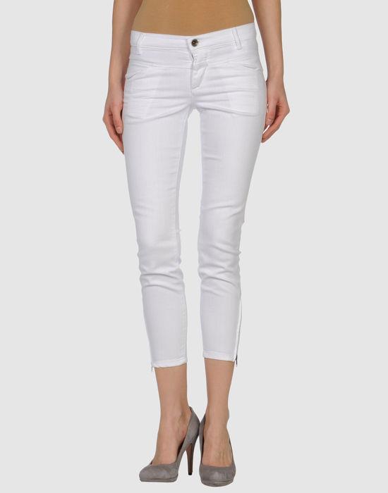 Джинсовые брюки-капри CLOSED. Цвет: белый
