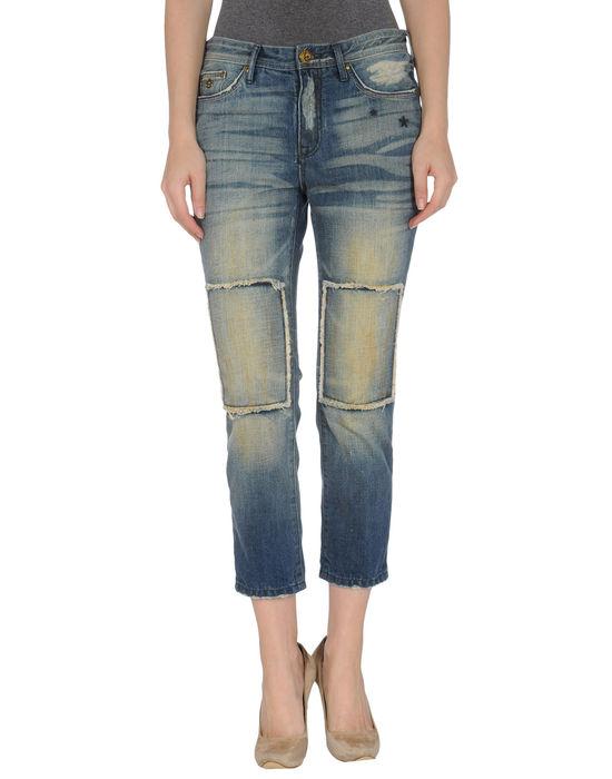 Джинсовые брюки-капри MAISON SCOTCH. Цвет: синий