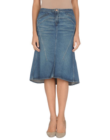 ROBERTO CAVALLI - Denim skirt