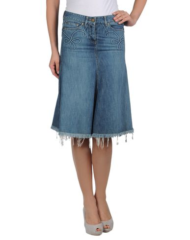 ALEXANDER MCQUEEN - Denim skirt