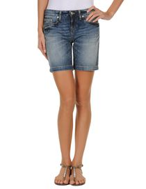 PINKO GREY - Denim shorts