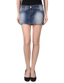 PINKO GREY - Denim skirt