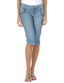 PINKO GREY - Denim bermudas