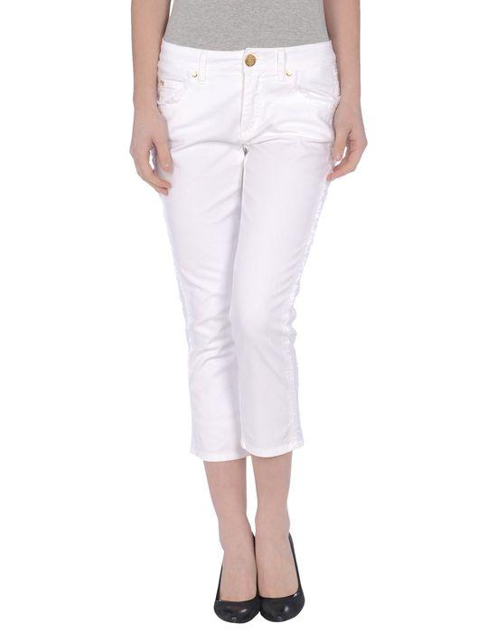 Джинсовые брюки-капри MARANI JEANS. Цвет: белый