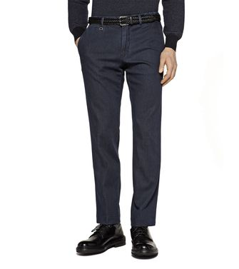 ERMENEGILDO ZEGNA: Casual trouser Steel grey - 42306079RR