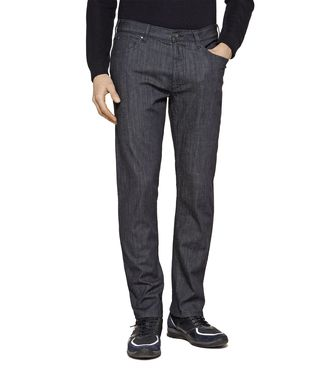 ZEGNA SPORT: 5-pockets Trousers Blue - 42306443EX