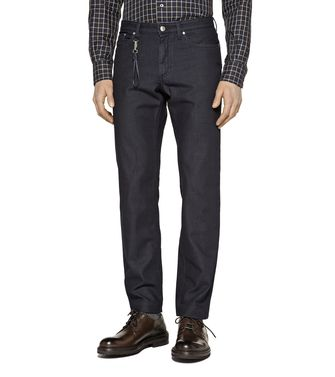 ERMENEGILDO ZEGNA: 5-pockets Pants Steel grey - 42308363ID