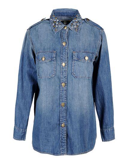 Женские Джинсовые рубашки WALTER VOULAZ - фото Джинсовые рубашки CURRENT/ELLIOTT, цена 11028 руб