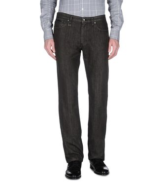 ERMENEGILDO ZEGNA: Denim Blue - Grey - Maroon - 42321393PD