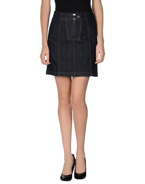 цена  MCQ ALEXANDER MCQUEEN Джинсовая юбка  онлайн в 2017 году