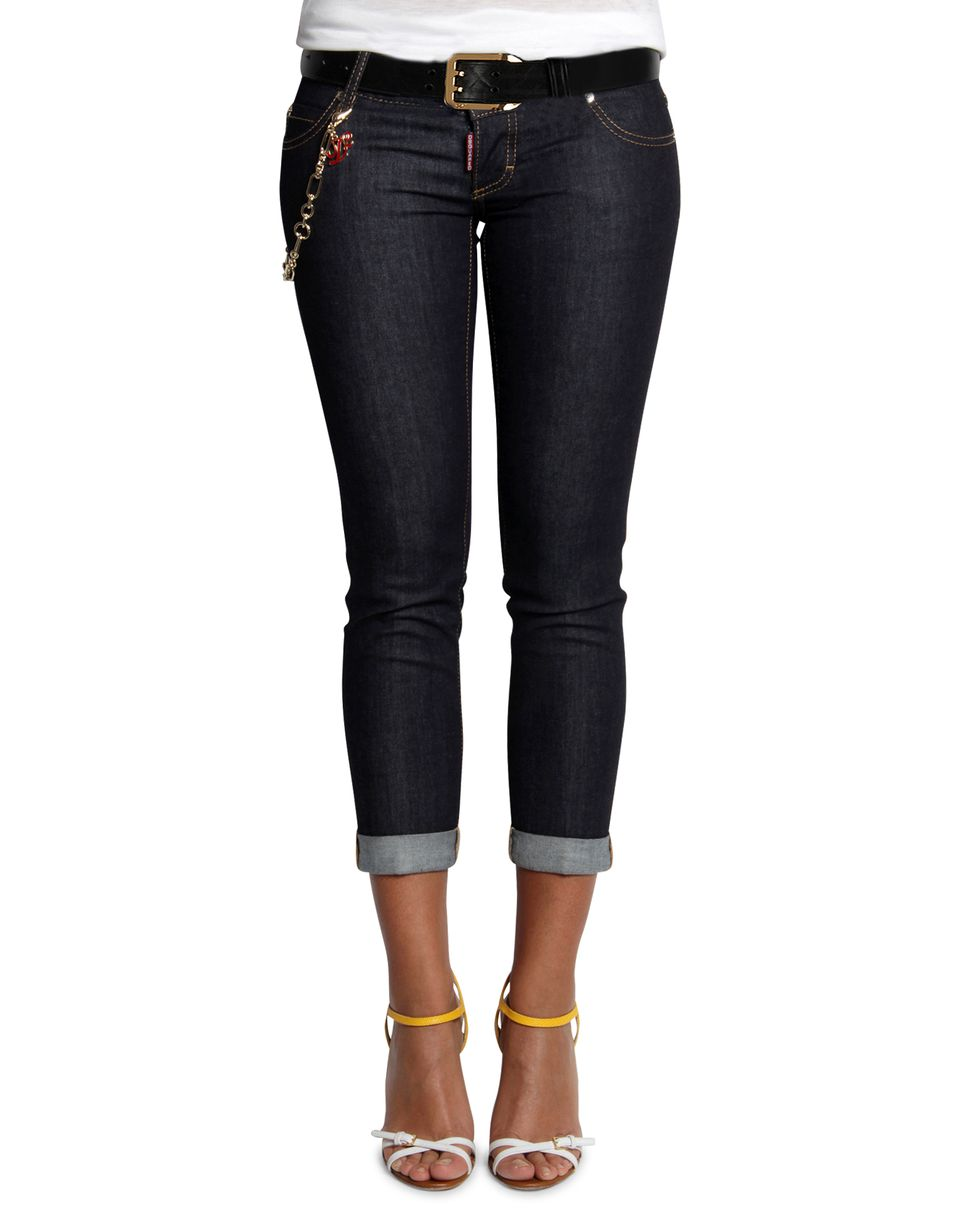 pat jeans denim Woman Dsquared2