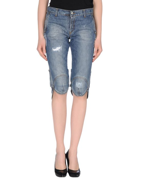 Джинсовые брюки-капри C'N'C' COSTUME NATIONAL. Цвет: синий