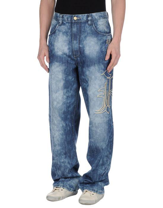 Джинсовые брюки KARL KANI. Цвет: синий