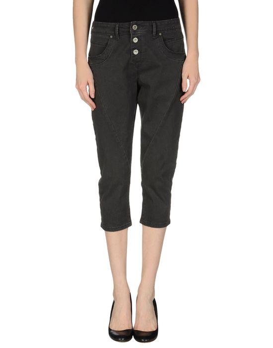 Джинсовые брюки-капри ONLY. Цвет: черный