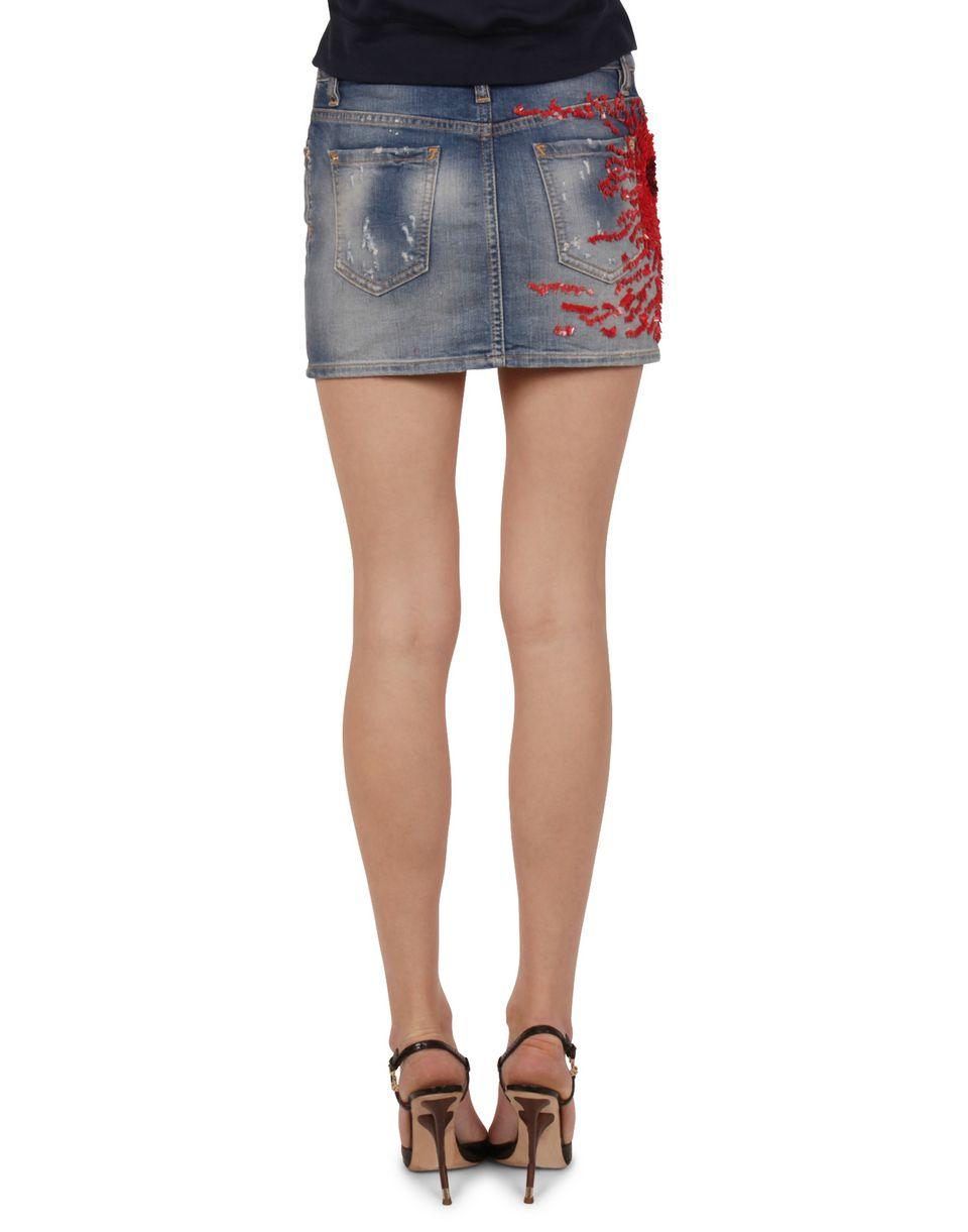 dsquared2 coral denim mini skirt denim skirts