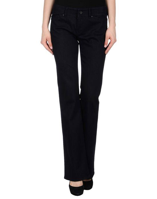Джинсовые брюки-капри ELIE TAHARI. Цвет: синий