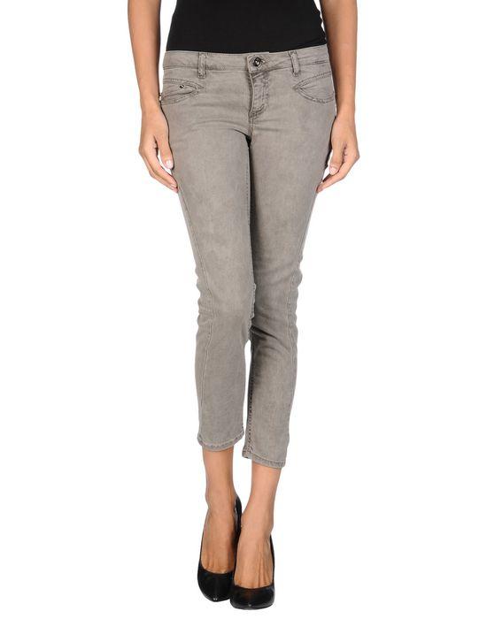 Джинсовые брюки-капри C'N'C' COSTUME NATIONAL. Цвет: хаки