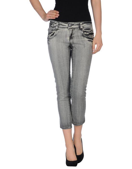 Джинсовые брюки-капри ICHI. Цвет: серый