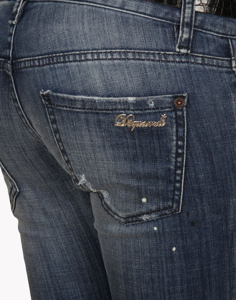 skinny cropped jean denim Woman Dsquared2