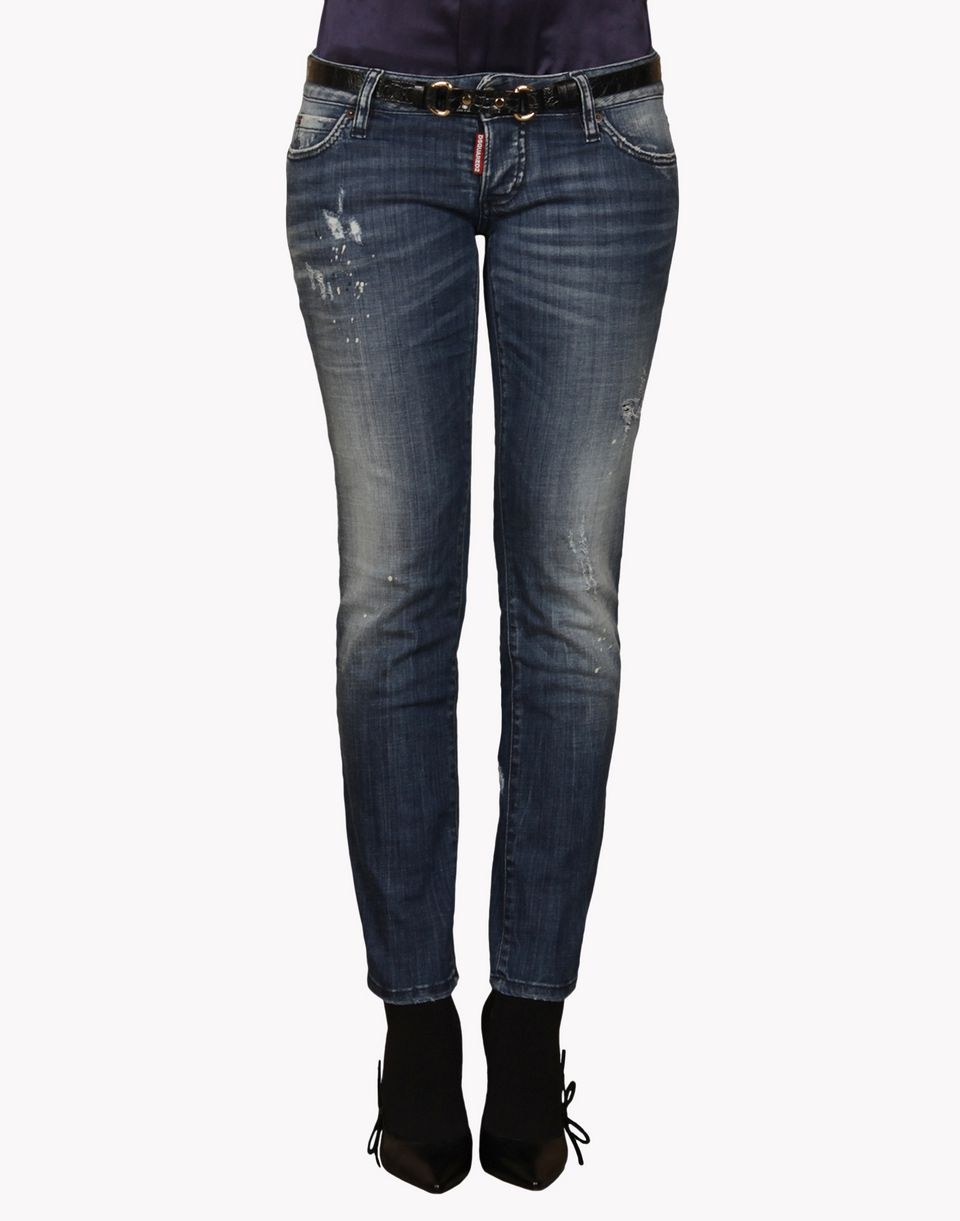 skinny cropped jean denim Woman Dsquared2