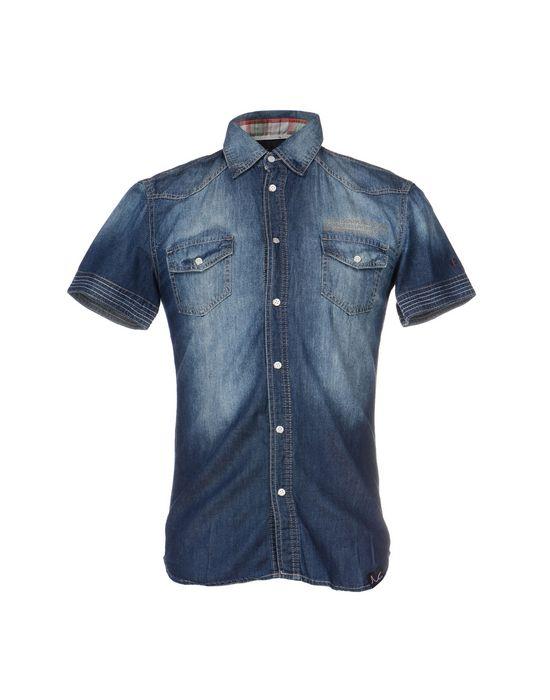 Джинсовая рубашка DOOA. Цвет: синий