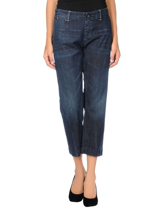 Джинсовые брюки-капри CITIZEN OF HUMANITY BY JEROME DAHAN. Цвет: синий