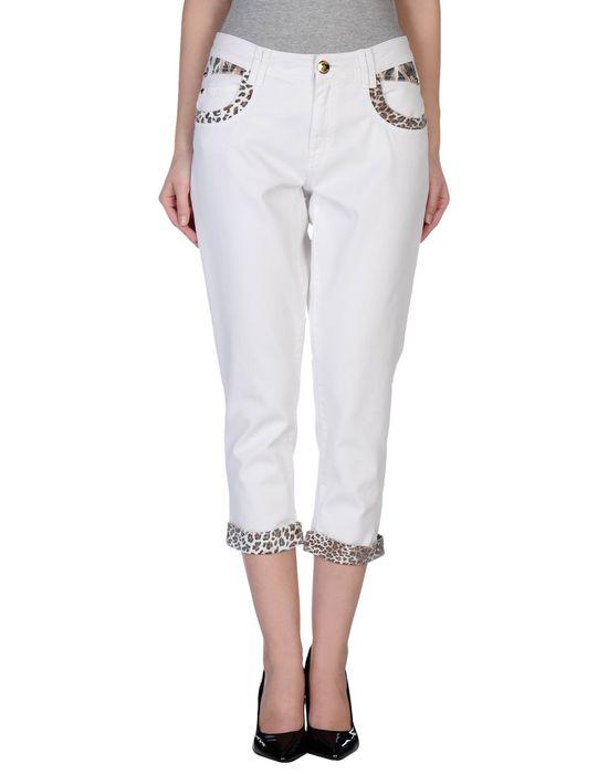 Джинсовые брюки-капри ANGELO MARANI. Цвет: белый
