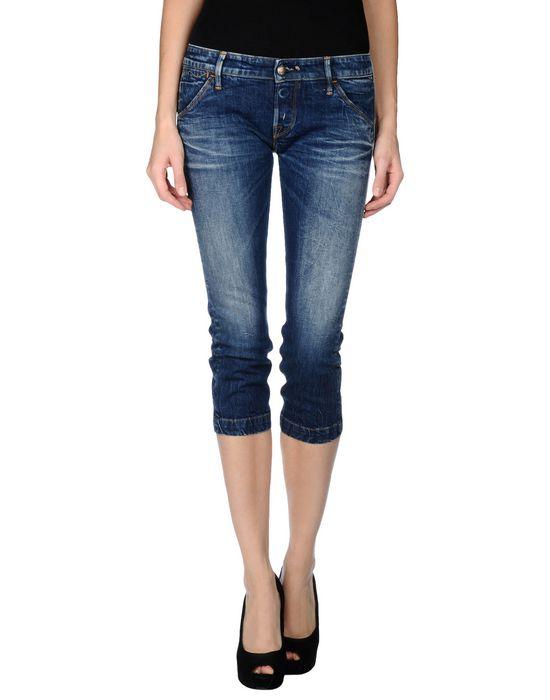 Джинсовые брюки-капри HTC. Цвет: синий