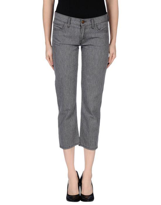 Джинсовые брюки-капри MOTHER. Цвет: стальной серый