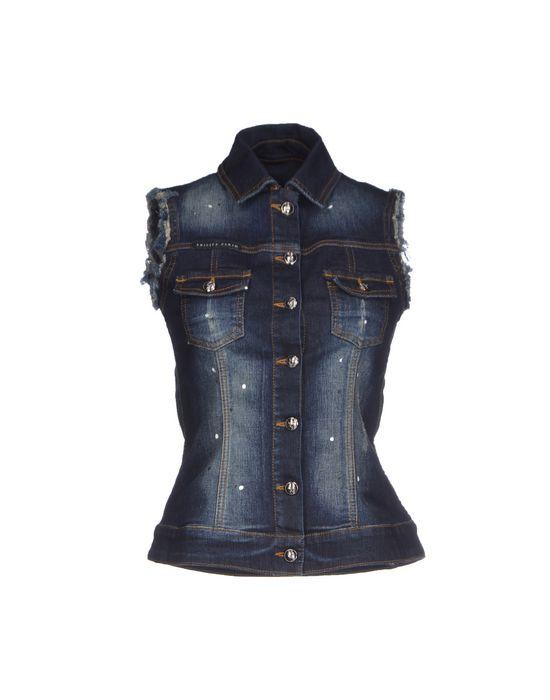 PHILIPP PLEIN Джинсовая верхняя одежда Скидки в YOOX.COM  по цене 44000.00 RUB