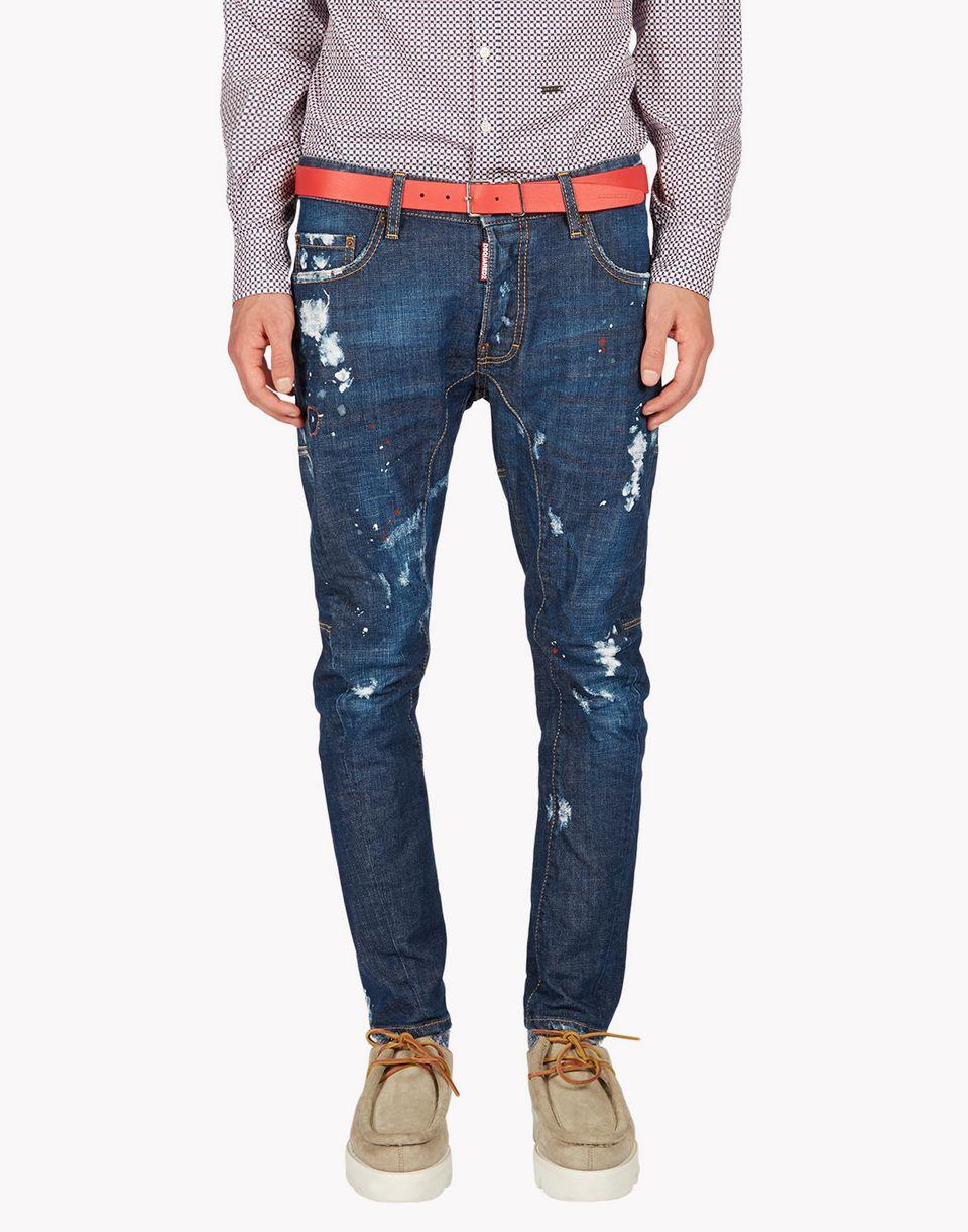 Dsquared2 Tidy Biker Jeans, 5 Pockets Men - Dsquared2 Online Store