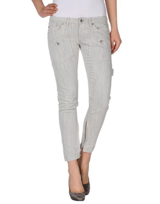 Джинсовые брюки-капри FORNARINA. Цвет: светло-серый