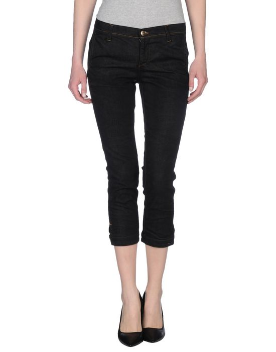 Джинсовые брюки-капри C'N'C' COSTUME NATIONAL. Цвет: черный