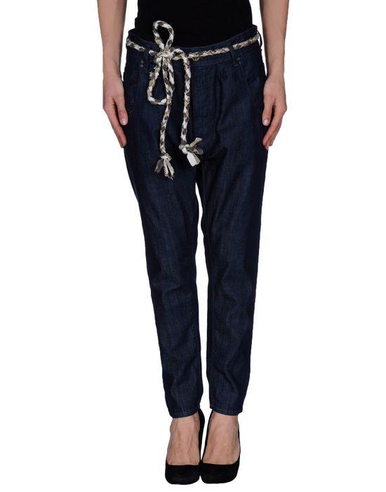 Джинсовые брюки-капри NOVEMB3R. Цвет: синий