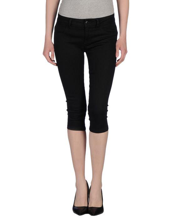 Джинсовые брюки-капри JACQUELINE DE YONG. Цвет: черный
