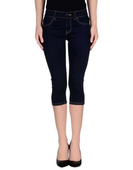 Джинсовые брюки-капри JACQUELINE DE YONG. Цвет: синий