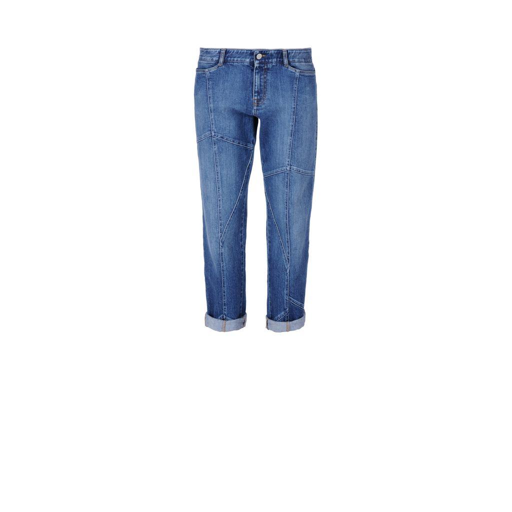 Jeans tomboy blu classico