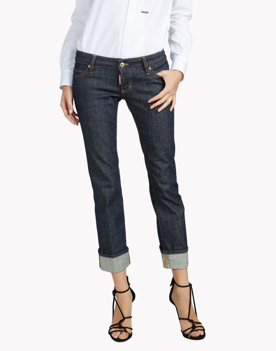 sexy rolled up flare jeans denim Woman Dsquared2