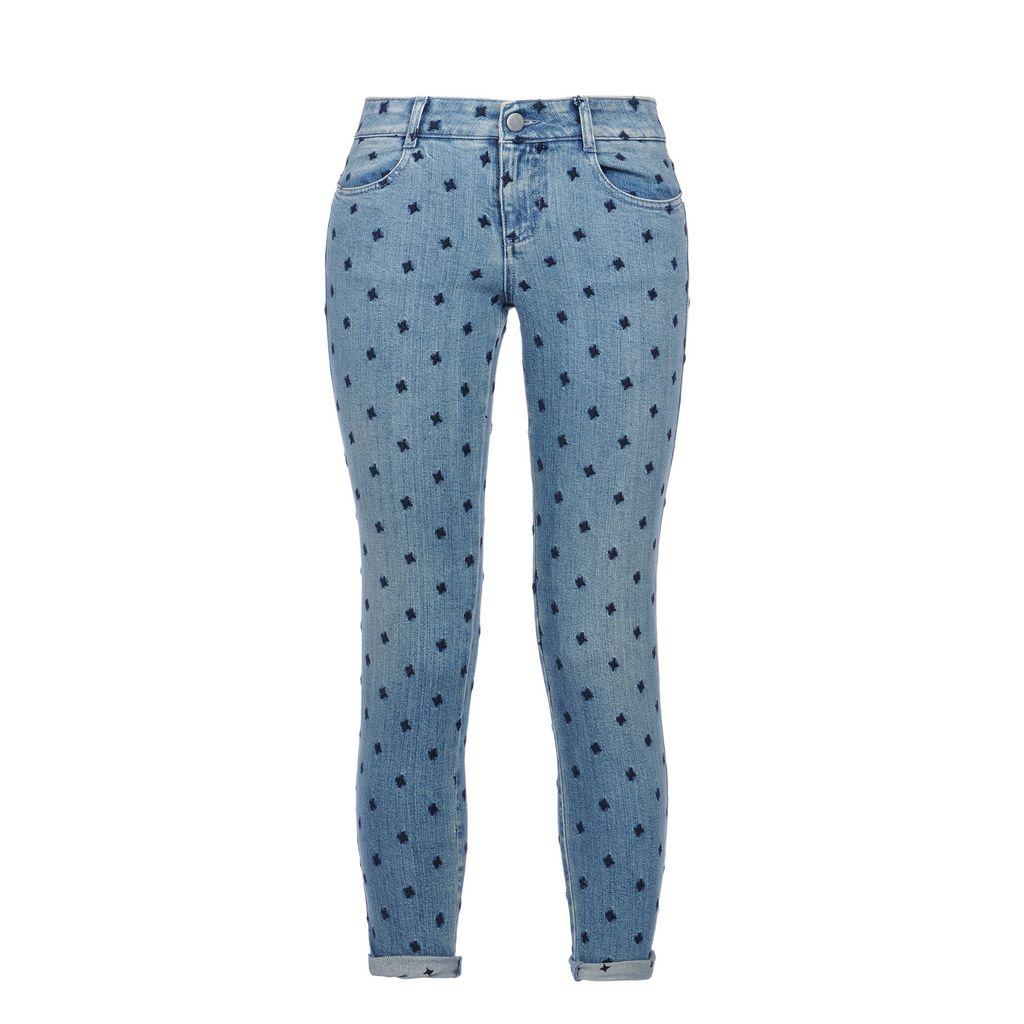 Skinny Ankle Grazer Blue Star Jeans