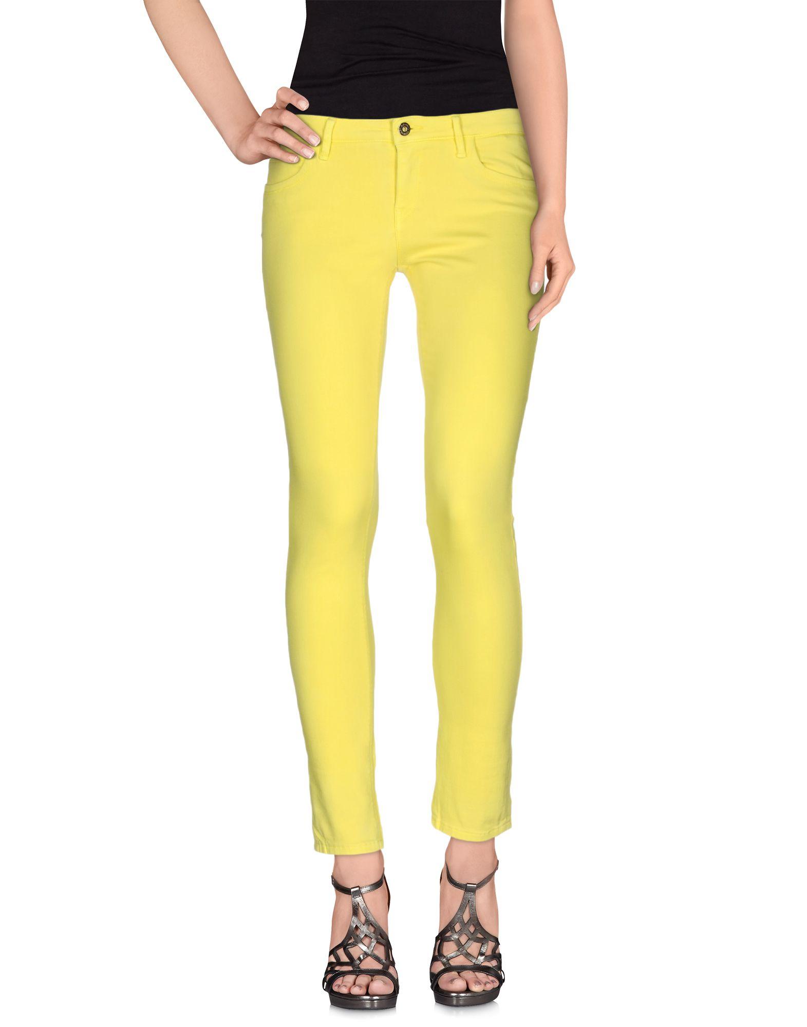 ATOS LOMBARDINI Damen Jeanshose Farbe Gelb Größe 5