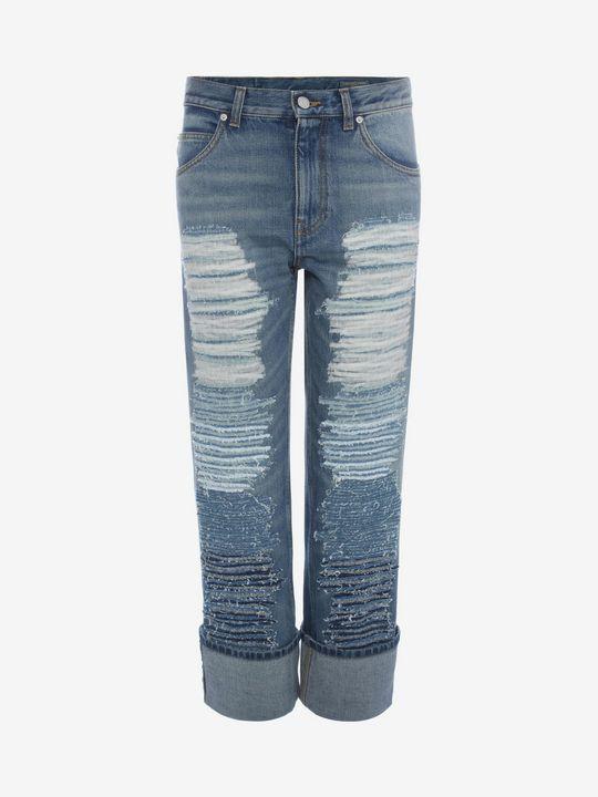 Embroidered Denim Jeans