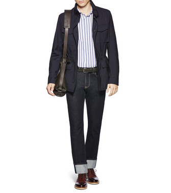 ERMENEGILDO ZEGNA: Regular Fit Azul marino - 42493713RS